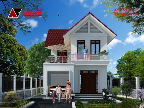 Mẫu thiết kế nhà 1 trệt 1 lầu diện tích 7x15m