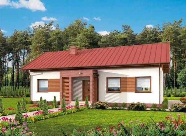 Mẫu thiết kế nhà cấp 4 đẹp 3 phòng ngủ lợp mái tôn