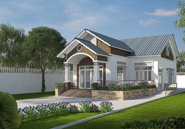 Thiết kế nhà ở cấp 4 mới 5x20m 2 phòng ngủ đẹp - Hình 3