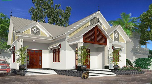 Thiết kế nhà ở cấp 4 mới 5x20m 3 phòng ngủ đẹp - Hình 1