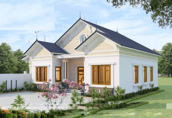 Thiết kế nhà ở cấp 4 mới 5x20m 3 phòng ngủ đẹp - Hình 2