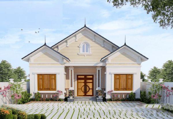 Thiết kế nhà ở cấp 4 mới 5x20m 3 phòng ngủ đẹp - Hình 3
