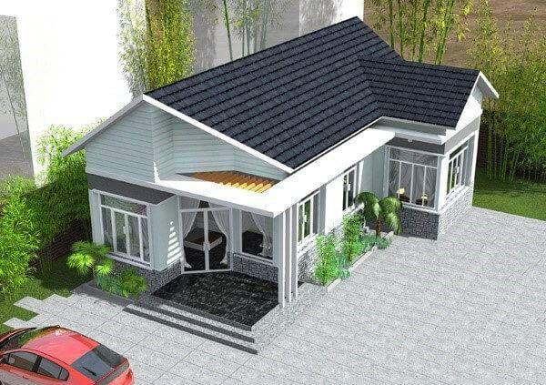 Thiết kế nhà ở cấp 4 mới 5x20m có gác lửng đẹp - Hình 4