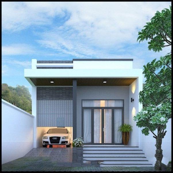 Thiết kế nhà ở cấp 4 mới 5x20m có gara đẹp - Hình 1