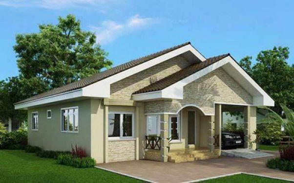 Thiết kế nhà ở cấp 4 mới 5x20m có gara đẹp - Hình 2