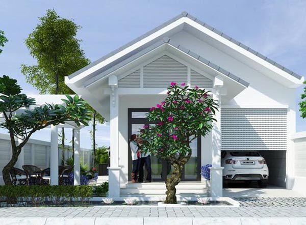 Thiết kế nhà ở cấp 4 mới 5x20m có gara đẹp - Hình 3