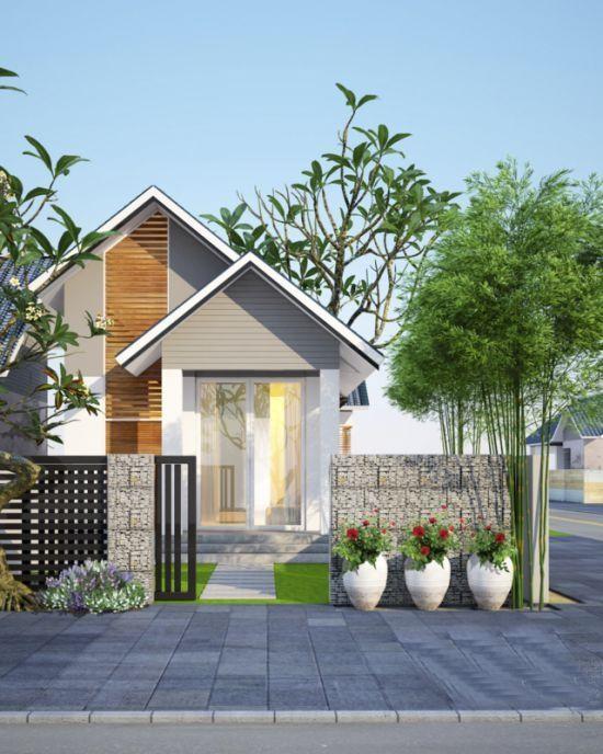 Thiết kế nhà ở cấp 4 mới 5x20m có giếng trời đẹp - Hình 2