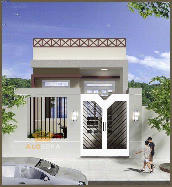 Thiết kế nhà ở cấp 4 mới 5x20m có giếng trời đẹp - Hình 3