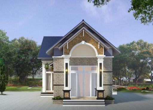 Tiết kiệm chi phí bằng thiết kế nhà cấp 4 đẹp lợp mái tôn có 2 phòng ngủ - Mẫu 2