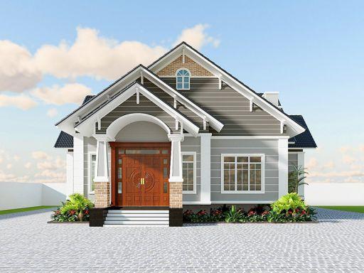 Tìm kiếm mẫu thiết kế nhà cấp 4 đẹp lợp mái tôn có 3 phòng ngủ - Hình 3