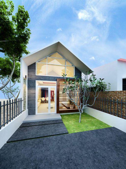 Xu hướng thiết kế nhà cấp 4 đẹp lợp mái tôn diện tích 5x20m - Mẫu 2