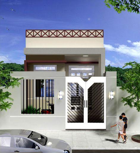 Xu hướng thiết kế nhà cấp 4 đẹp lợp mái tôn diện tích 5x20m - Mẫu 3