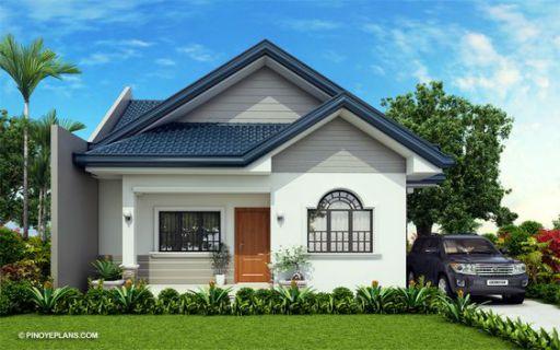 Phong cách thiết kế nhà cấp 4 đẹp lợp mái tôn hình chữ L - Mẫu 3
