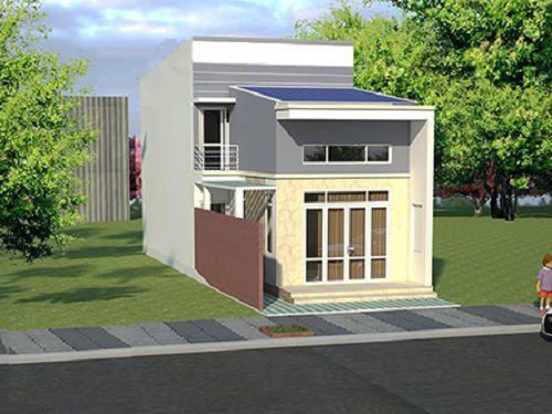 Tăng diện tích sử dụng bằng thiết kế nhà cấp 4 đẹp lợp mái tôn có gác lửng - Mẫu 2
