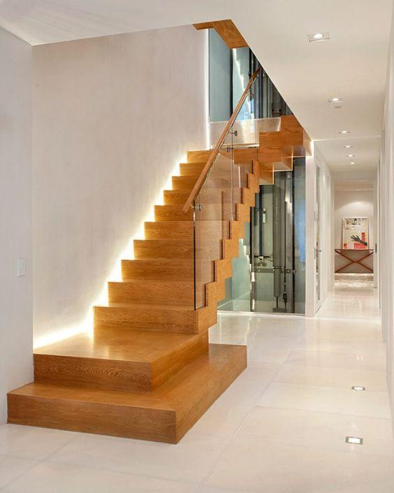 Mẫu thiết kế cầu thang kính cường lực đẹp hiện đại - Hình 2