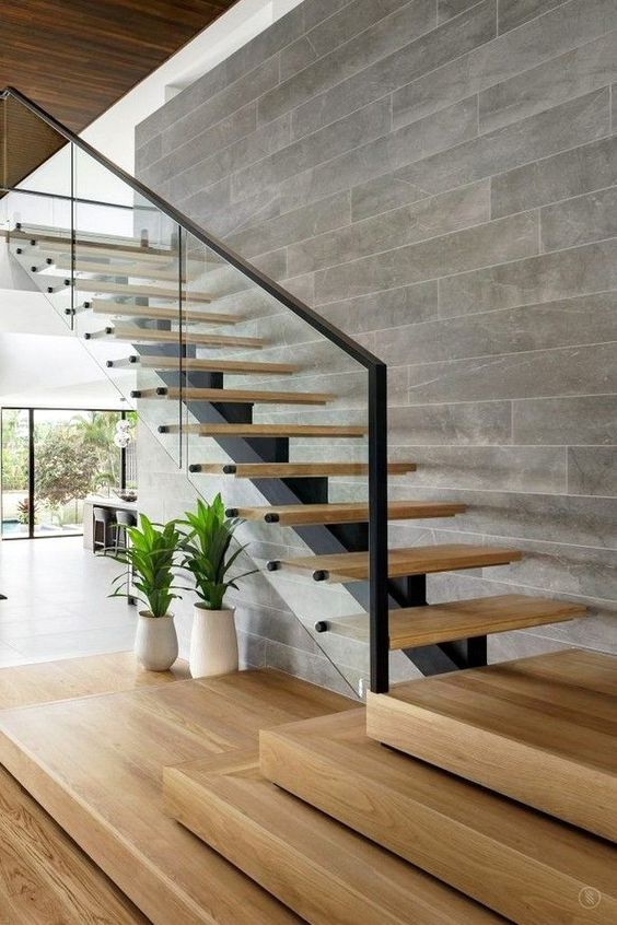 Mẫu thiết kế cầu thang kính không trụ đẹp hiện đại - Hình 2