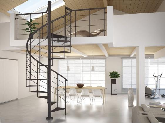 Thiết kế cầu thang xoắn bằng sắt đẹp nhất hiện nay - Mẫu 1