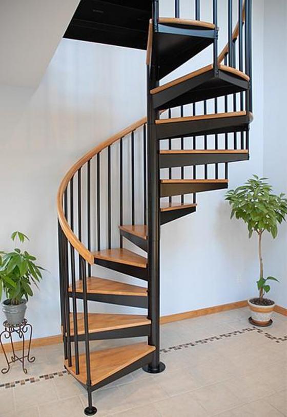 Thiết kế cầu thang xoắn ốc đẹp nhất hiện nay - Mẫu 1