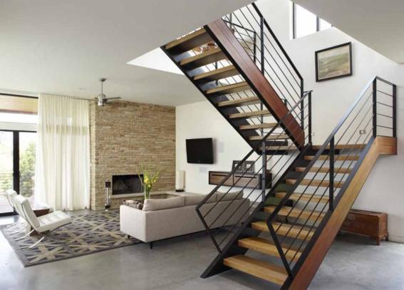 Giới thiệu cầu thang xương cá bằng gỗ đẹp xu hướng hiện đại - Mẫu 1