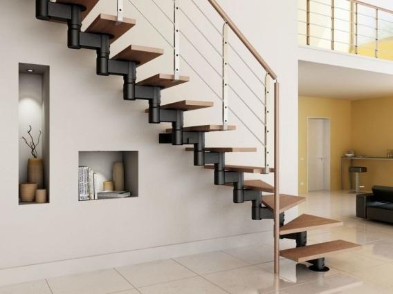 Giới thiệu cầu thang xương cá inox đẹp xu hướng hiện đại - Mẫu 1