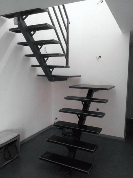 Giới thiệu cầu thang xương cá sắt đẹp xu hướng hiện đại - Mẫu 1