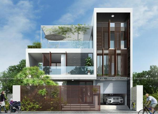 Mô hình thiết kế biệt thự 3 tầng diện tích 90m2