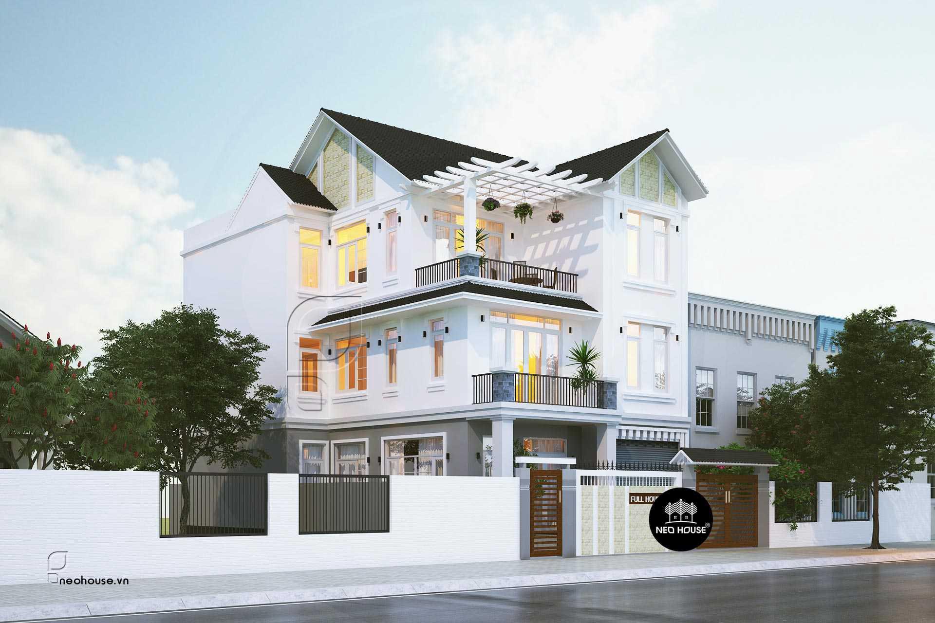 Phong cách thiết kế biệt thự 3 tầng mái thái