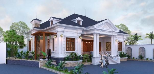 Hơn 300 thiết kế biệt thự đẹp phong cách hiện đại - Mẫu 1
