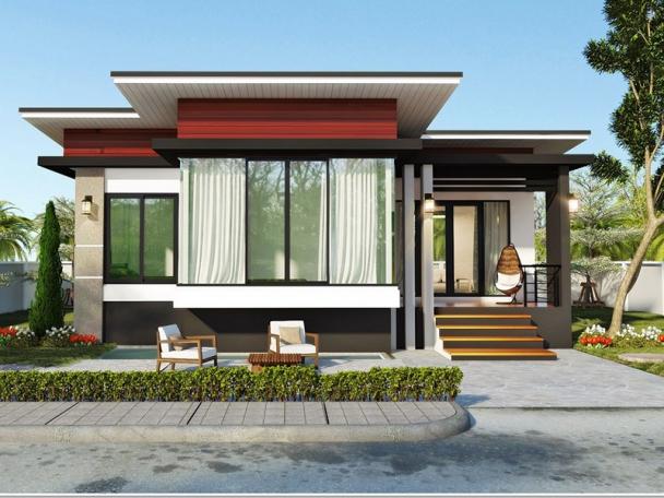 Giới thiệu thiết kế biệt thự mái bằng 1 tầng đẹp