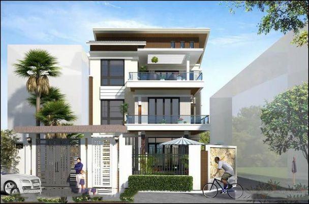 Giới thiệu thiết kế biệt thự mái bằng 3 tầng đẹp