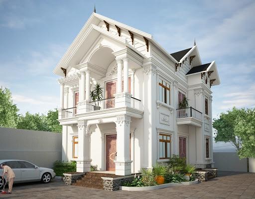 Chiêm ngưỡng thiết kế biệt thự tân cổ điển 2 tầng