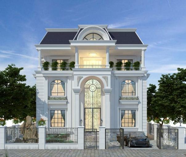 Chiêm ngưỡng thiết kế biệt thự tân cổ điển 3 tầng