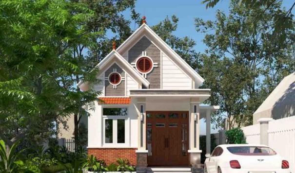Mẫu nhà cấp 4 hình chữ l có 3 phòng ngủ 1 phòng thờ - Hình 2