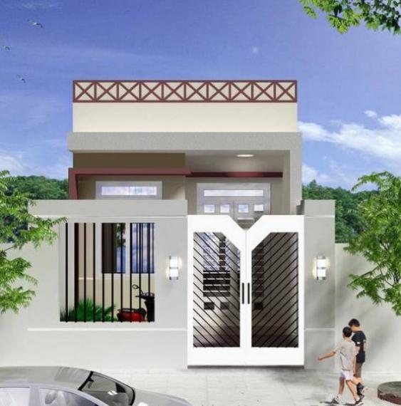 Mẫu thiết kế nhà cấp 4 có gác lửng diện tích 50m2 - Hình 2