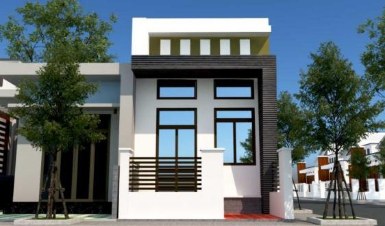 Mẫu thiết kế nhà cấp 4 có gác lửng mái bằng - Hình 2