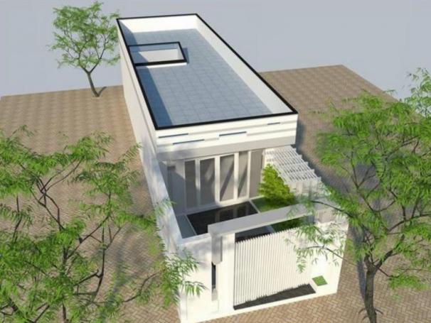 Hình ảnh mẫu thiết kế nhà ống 1 tầng có 2 phòng ngủ