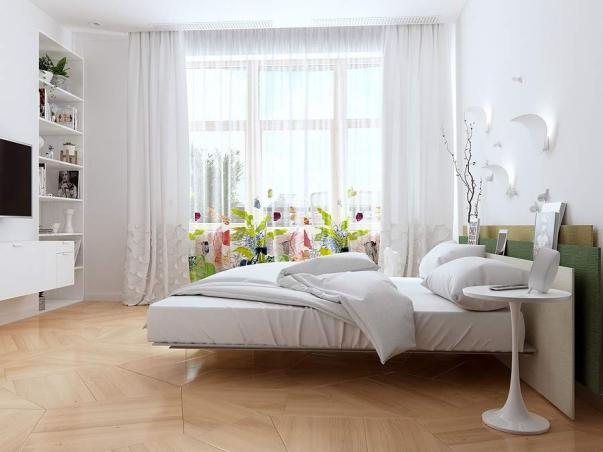Tuyển chọn những mẫu nội thất phòng ngủ có 2 cửa ra vào đẹp nhất trong năm nay
