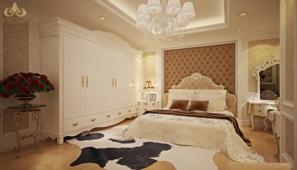 Xu hướng mới với thiết kế phòng ngủ phong cách cổ điển đẹp - Hình 1