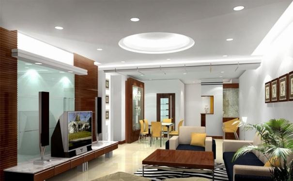 Thiết kế nội thất trần thạch cao giật cấp hình trọn đẹp hiện nay - Mẫu 1