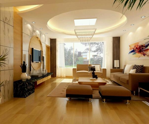 Thiết kế nội thất trần thạch cao giật cấp hình trọn đẹp hiện nay - Mẫu 3