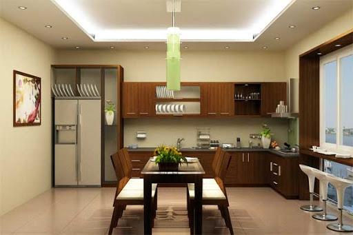 Những kiểu trần thạch cao giật cấp cho phòng bếp hiện đại - Mẫu 2