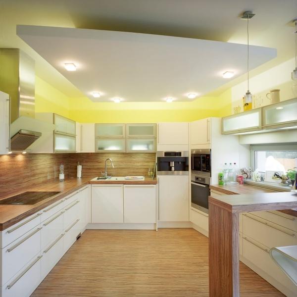 Những kiểu trần thạch cao giật cấp cho phòng bếp hiện đại - Mẫu 3