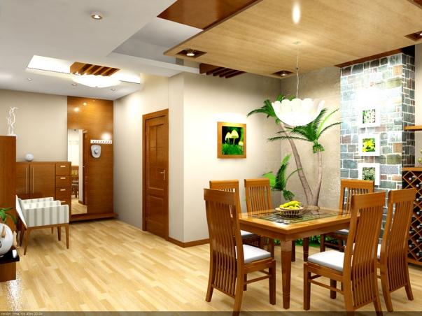 Những kiểu trần thạch cao giật cấp cho phòng bếp hiện đại - Mẫu 5