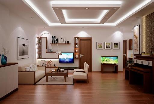 Mô hình trần thạch cao giật cấp cho phòng khách sang trọng - Thiết kế số 3