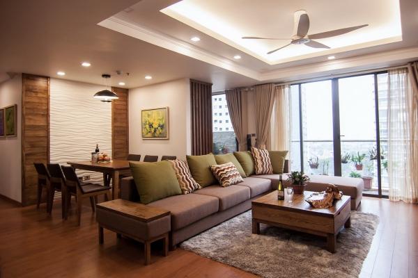 Mô hình trần thạch cao giật cấp cho phòng khách sang trọng - Thiết kế số 4