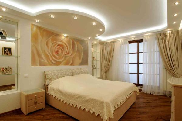 Các mẫu trần thạch cao giật cấp cho phòng ngủ đẹp nhất - Thiết kế 2