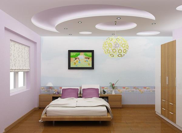 Các mẫu trần thạch cao giật cấp cho phòng ngủ đẹp nhất - Thiết kế 3