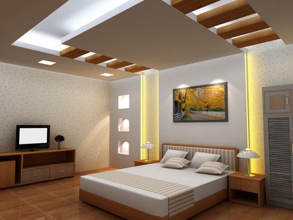 Các mẫu trần thạch cao giật cấp cho phòng ngủ đẹp nhất - Thiết kế 5