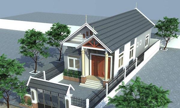 Mẫu nhà cấp 4 mái thái có 3 phòng ngủ 1 phòng thờ - Hình 3