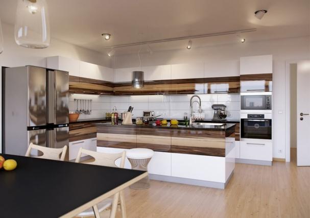Thiết kế nội thất phòng bếp nhà ống đẹp hiện nay
